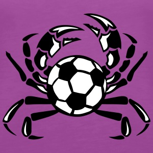 crab soccer club logo Tanks - Women's Premium Tank Top