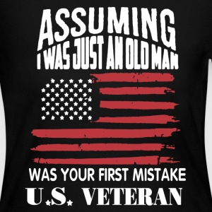 U.S Veteran Shirt - Women's Long Sleeve Jersey T-Shirt