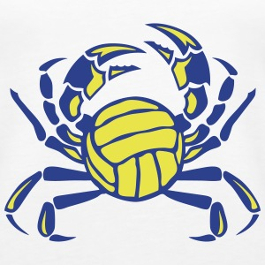 crab volleyball club logo Tanks - Women's Premium Tank Top
