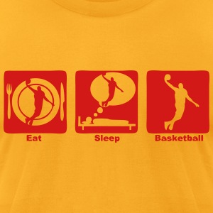 basketball eat sleep play 1 T-Shirts - Men's T-Shirt by American Apparel