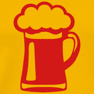 alcohol glass icon 102 beer foam T-Shirts - Men's Premium T-Shirt