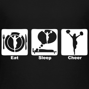 cheerleading eat sleep play 1 Kids' Shirts - Kids' Premium T-Shirt