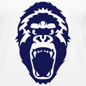 gorilla head wild animal Tanks - Women's Premium Tank Top