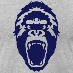 gorilla head wild animal T-Shirts - Men's T-Shirt by American Apparel