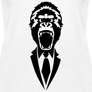 gorilla suit and tie tie 2502 Tanks - Women's Premium Tank Top