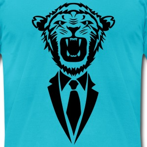 lion tie dress tie T-Shirts - Men's T-Shirt by American Apparel