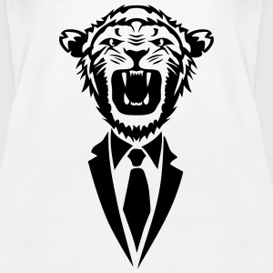 lion tie dress tie Tanks - Women's Premium Tank Top