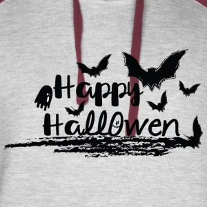 Happy Halloween dark night Colorblock Hoodie - Colorblock Hoodie