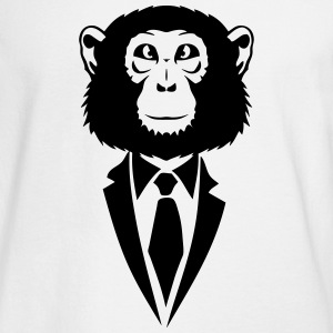 monkey suit and tie tie 2502 Long Sleeve Shirts - Men's Long Sleeve T-Shirt