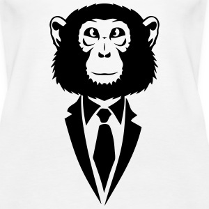 monkey suit and tie tie 2502 Tanks - Women's Premium Tank Top
