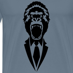 gorilla suit and tie tie 2502 T-Shirts - Men's Premium T-Shirt