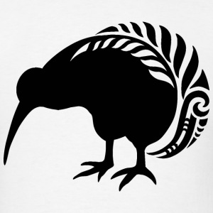 KIWI SILVER FERN BIRD  - Men's T-Shirt