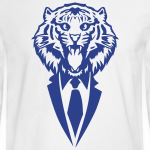 tiger suit and tie tie 2502 Long Sleeve Shirts - Men's Long Sleeve T-Shirt