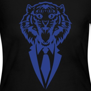 tiger suit and tie tie 2502 Long Sleeve Shirts - Women's Long Sleeve Jersey T-Shirt