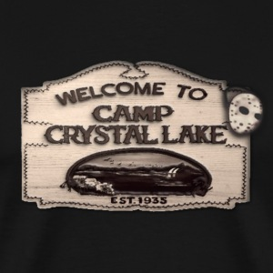 Welcome To Camp Crystal Lake Men Black Premium Shi - Men's Premium T-Shirt