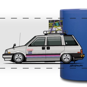 Nissan Prairie Stanza Multi Wagon 4WD Retro Gamer Mugs & Drinkware - Full Color Panoramic Mug