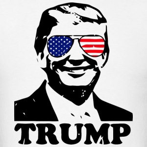 Trump with American Flag - Men's T-Shirt