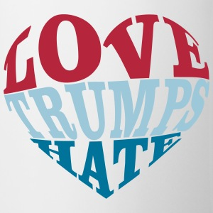 Love Trumps Hate Heart Mugs & Drinkware - Coffee/Tea Mug