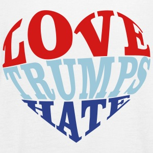 Love Trumps Hate Heart Tanks - Women's Flowy Tank Top by Bella