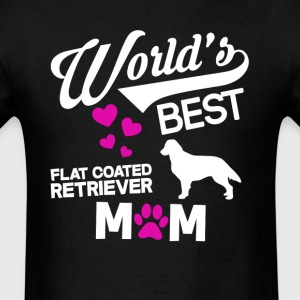 Flat coated Retriever Dog Mom T-Shirt T-Shirts - Men's T-Shirt
