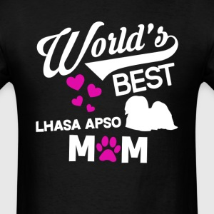 Lhasa Apso Dog Mom T-Shirt T-Shirts - Men's T-Shirt