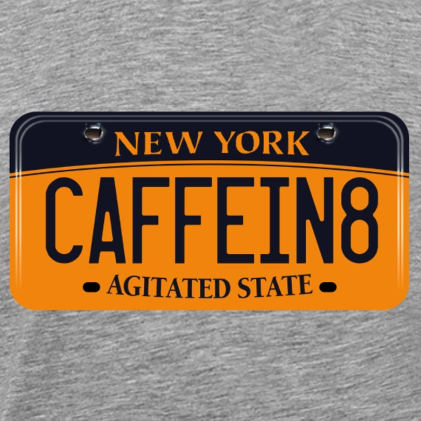 New York License - Agitated State - Men's Premium T-Shirt