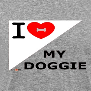 I Love MY Doggie 3 T-Shirts - Men's Premium T-Shirt