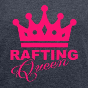 Rafting Queen - Women´s Rolled Sleeve Boxy T-Shirt