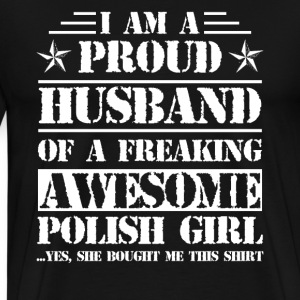 Proud Polish's Husband Shirt - Men's Premium T-Shirt