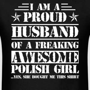 Proud Polish's Husband Shirt - Men's T-Shirt
