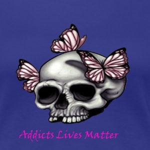 ALM  Skull and Flowers  - Women's Premium T-Shirt