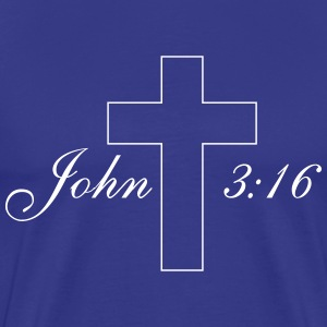 John 3:16 Simple Cross T-Shirts - Men's Premium T-Shirt