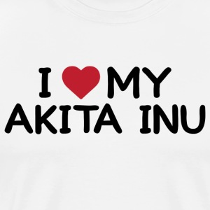 I love my Akita Inu - Men's Premium T-Shirt