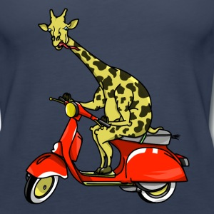 Giraffe on a moped - Women's Premium Tank Top