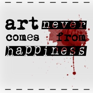 Art Comes From Happiness Mugs & Drinkware - Panoramic Mug