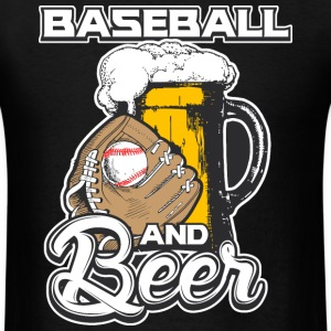 Baseball and Beer - Men's T-Shirt