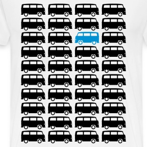 Bulli Bus - Drive different (2c + your Text) T-Shirts - Men's Premium T-Shirt