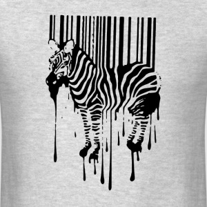 Banksy Street Art Zebra Bar Code Graffiti Graff - Men's T-Shirt