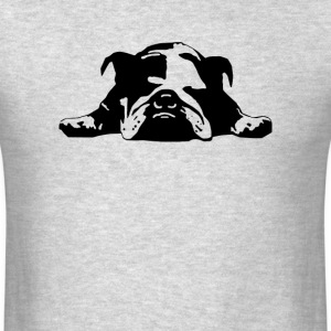 Bulldog Stencil Womens  - Men's T-Shirt