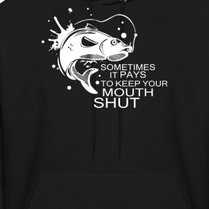 fish keep mouth shut - Men's Hoodie