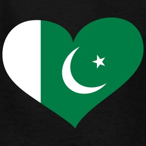 Pakistan Heart; Love Pakistan Kids' Shirts - Kids' T-Shirt
