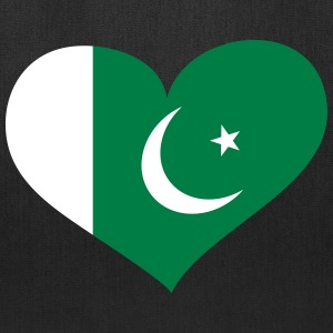 Pakistan Heart; Love Pakistan Bags & backpacks - Tote Bag