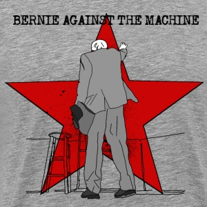 BERNIE AGAINST THE MACHINE (FOR WHITE SHIRTS) T-Shirts - Men's Premium T-Shirt