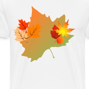 autumn_leaves_sweatshirt_ - Men's Premium T-Shirt