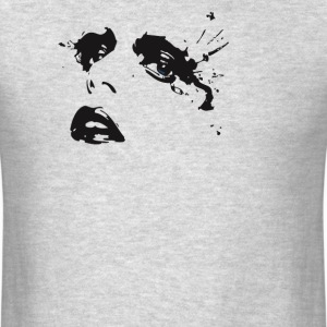 Crying Girl Stencil  - Men's T-Shirt