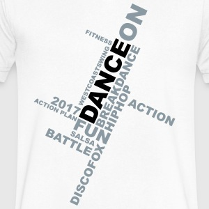 Dance ON T-Shirts - Men's V-Neck T-Shirt by Canvas