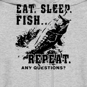 Eat Sleep Fish Repeat Funny Fishing  - Men's Hoodie