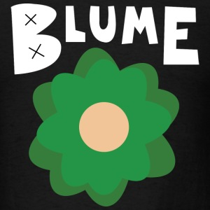 Blume Green Flower Black Shirt - Men's T-Shirt