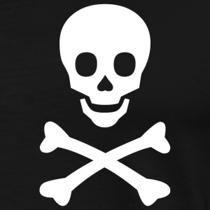 Skull and Bones (White) - Men's Premium T-Shirt
