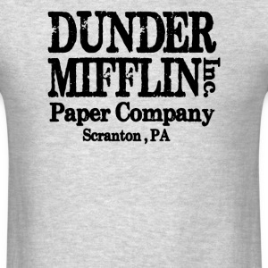 LARGE DUNDER MIFFLIN THE OFFICE VINTAGE COLLEGE  - Men's T-Shirt